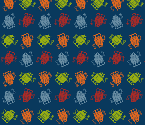 Robots fabric by dogsndubs on Spoonflower - custom fabric