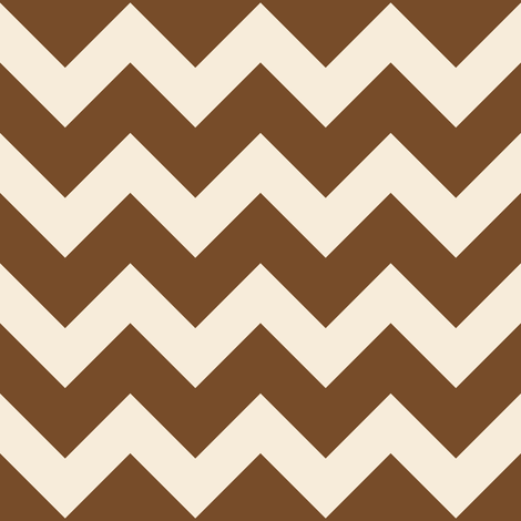 fun-with-chevrons - Chocolate/Ivory fabric by owlandchickadee on Spoonflower - custom fabric