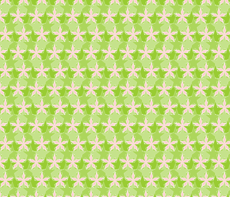 Star_Spots_-_Flower_Garden fabric by glimmericks on Spoonflower - custom fabric