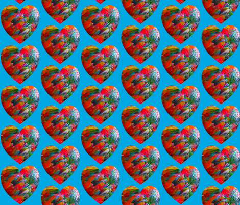 Big Heart on a Blue Background fabric by anniedeb on Spoonflower - custom fabric