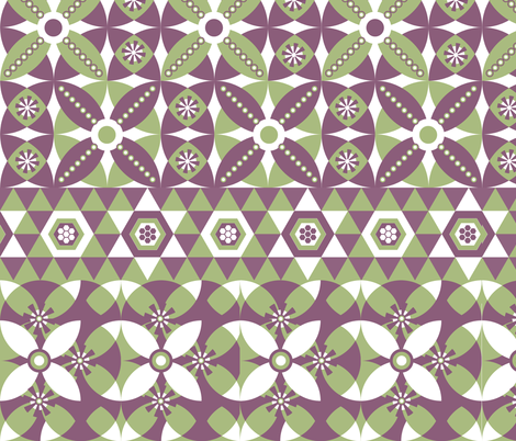 Circles & Triangles fabric by owlandchickadee on Spoonflower - custom fabric