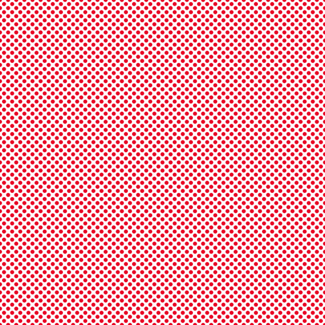 Red Polka dots on white fabric by joanmclemore on Spoonflower - custom fabric