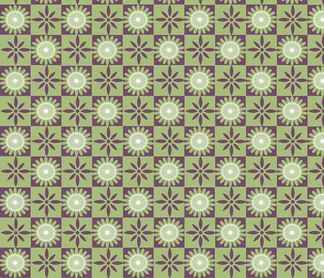 Ditsy Daisies fabric by dogdaze_ on Spoonflower - custom fabric