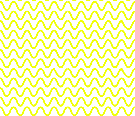 Yellow_Wobbles fabric by squidinkdesigns on Spoonflower - custom fabric