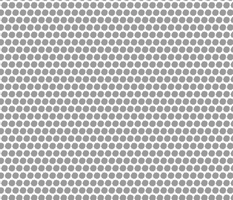 Grey_Painted_Flower_Dot fabric by anderson_lee on Spoonflower - custom fabric