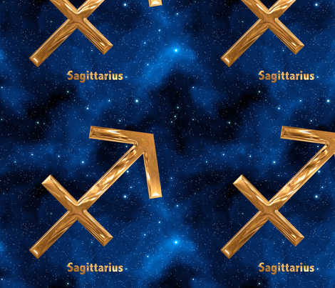 Sagittarius Zodiac Sign fabric by animotaxis on Spoonflower - custom fabric