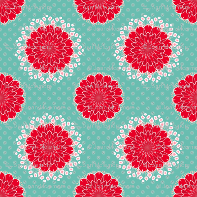 Cactus Flower on Turquoise