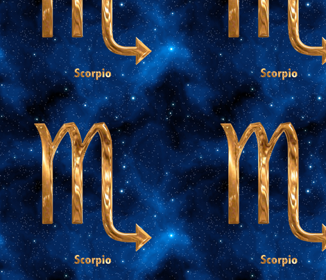 Scorpio Zodiac Sign fabric by animotaxis on Spoonflower - custom fabric
