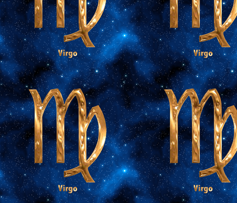 Virgo Zodiac Sign fabric by animotaxis on Spoonflower - custom fabric