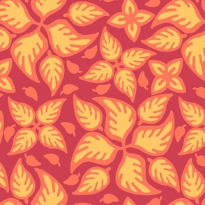 Firey Filigree Leaves