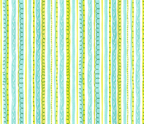Seaweed Stripes fabric by snowflower on Spoonflower - custom fabric