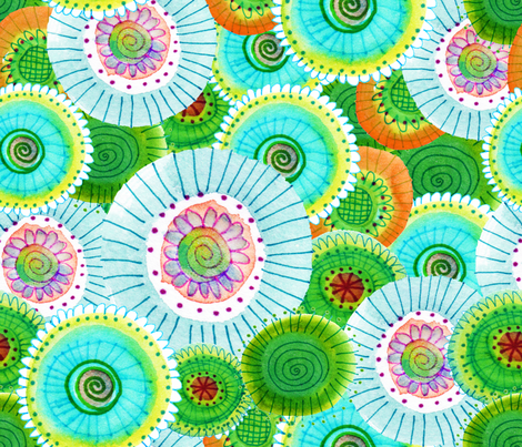Sea Blooms fabric by snowflower on Spoonflower - custom fabric