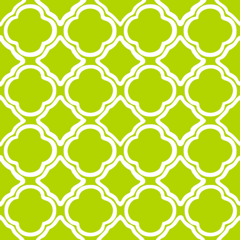 Kiwi Trellis fabric by lulabelle on Spoonflower - custom fabric