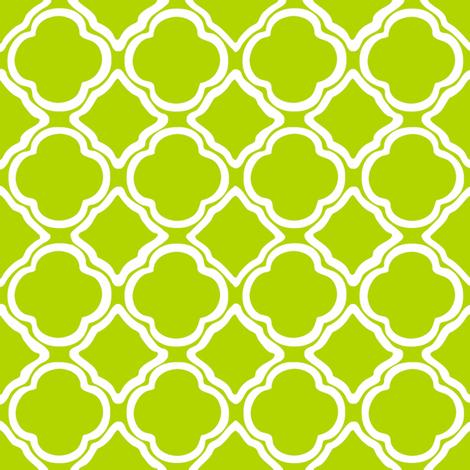 Kiwi Trellis fabric by lulabelle on Spoonflower - custom fabric