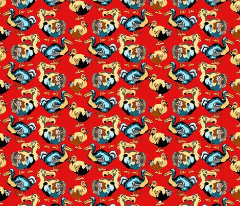 Dandy_Dodo fabric by art_on_fabric on Spoonflower - custom fabric