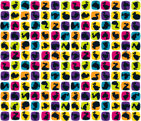 Don't forget the Dodo fabric by mel_w on Spoonflower - custom fabric