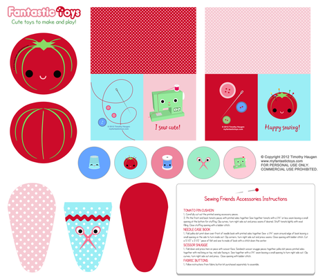DIY Sewing Accessory Kit  fabric by fantastictoys on Spoonflower - custom fabric