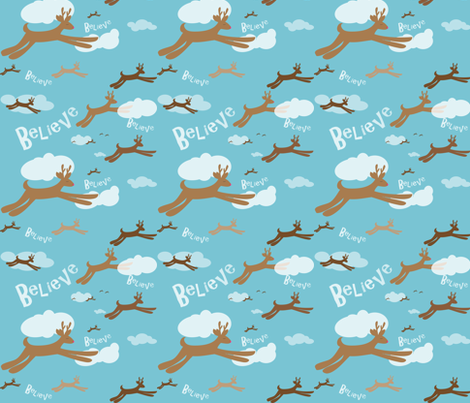 Christmas Reindeer fabric by wendyg on Spoonflower - custom fabric