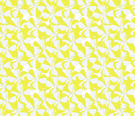 floral_print_in_yellow-01 fabric by sofiedesigns on Spoonflower - custom fabric