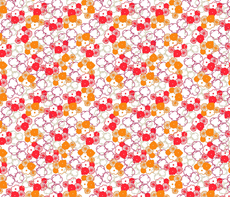 orange_and_red_floral_print-01 fabric by sofiedesigns on Spoonflower - custom fabric
