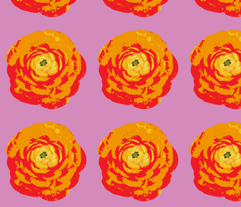 rose_with_purple_background-01 fabric by sofiedesigns on Spoonflower - custom fabric