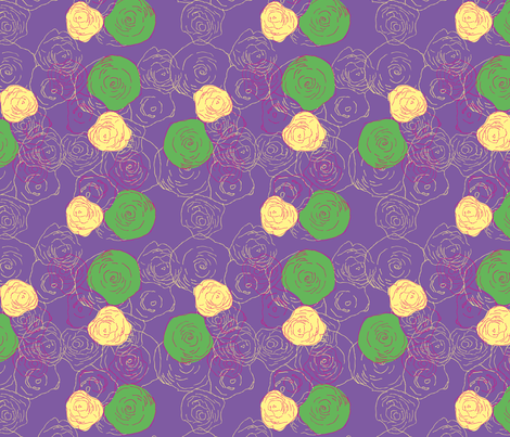 roses_are_colourful2-01 fabric by sofiedesigns on Spoonflower - custom fabric