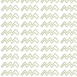 White ZigZag, green