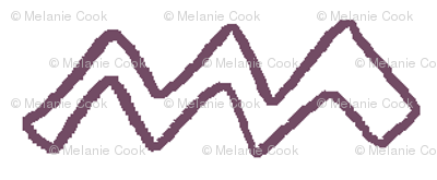White ZigZag, purple