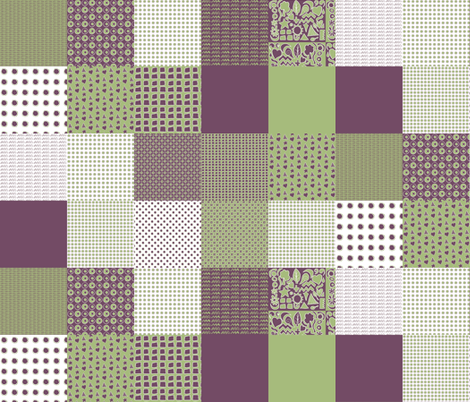 Cheater Quilt, Purple Peas fabric by wiccked on Spoonflower - custom fabric