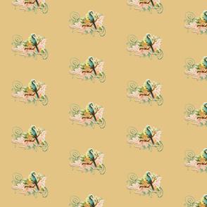 vintage bird beige
