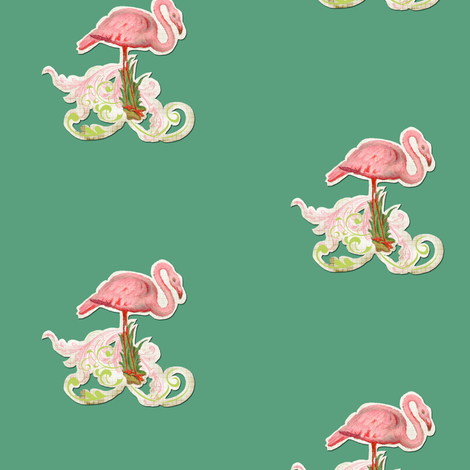 vintage flamingo fabric by myracle on Spoonflower - custom fabric