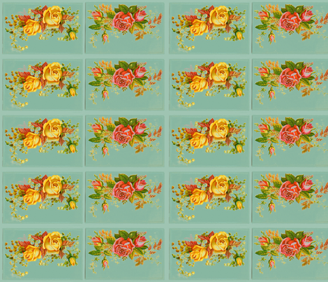 retro flower fabric by myracle on Spoonflower - custom fabric