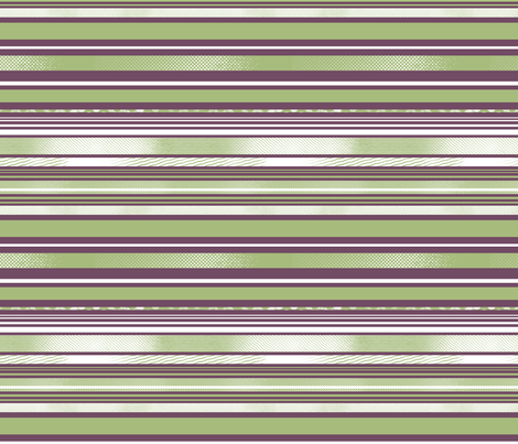 Avocado and Eggplant Horizontal Stripes fabric by tallulahdahling on Spoonflower - custom fabric