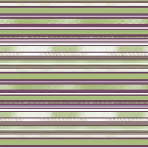 Avocado and Eggplant Horizontal Stripes