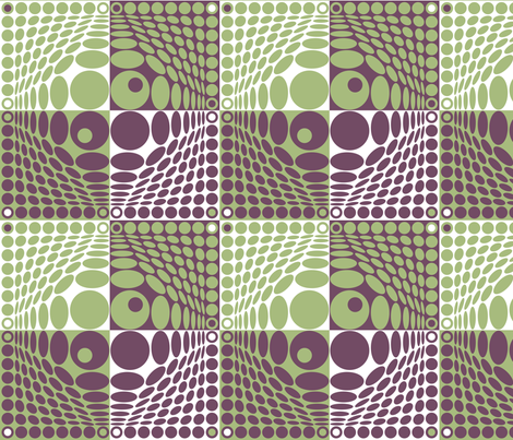 Tribute_to_Vasarely fabric by adèle_de_la_cigogne on Spoonflower - custom fabric