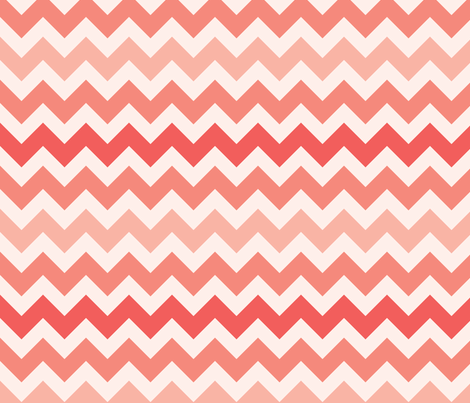 fun-with-chevrons-pink-grapefruit fabric by owlandchickadee on Spoonflower - custom fabric