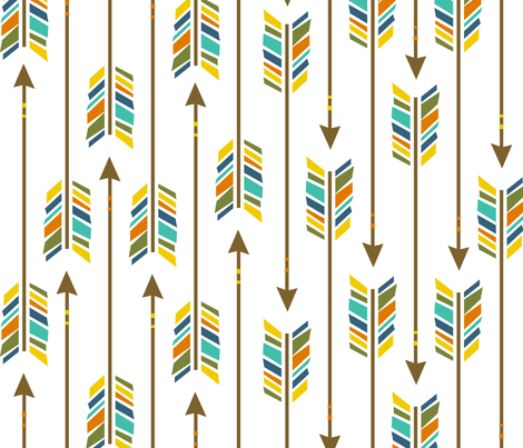 Large Arrows: Happy-Go-Lucky fabric by nadiahassan on Spoonflower - custom fabric