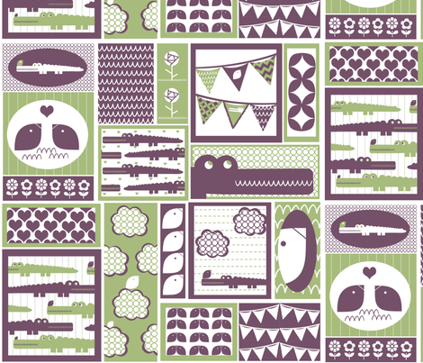 Geometric Alligators fabric by natitys on Spoonflower - custom fabric