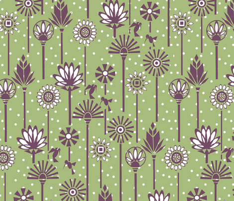 Along the Nile/Sage fabric by thats_artrageous on Spoonflower - custom fabric