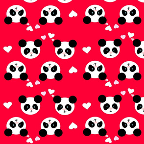 Panda Love Red XL
