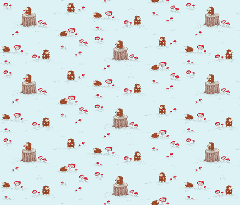 enchanted_hedgies fabric by pocketful_of_pinwheels on Spoonflower - custom fabric