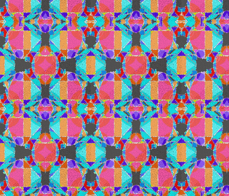pop_art_geometric_shapes_and_bright_colors_rug_effect fabric by vinkeli on Spoonflower - custom fabric