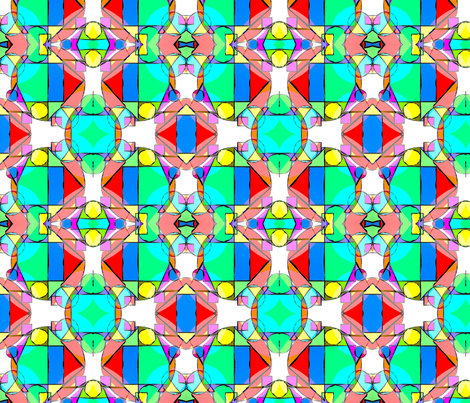 pop_art_geometric_shapes_and_bright_colors_tiffany_glass_window_effect fabric by vinkeli on Spoonflower - custom fabric