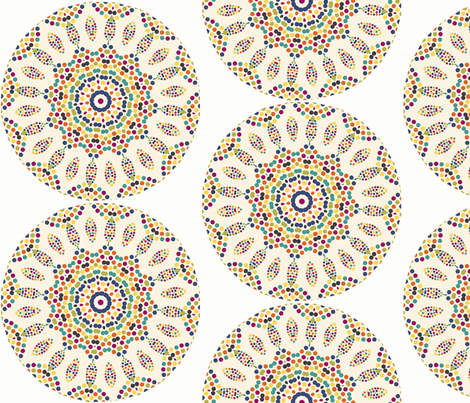 mosaic_roundel fabric by lfntextiles on Spoonflower - custom fabric