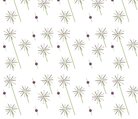 Daydreams and Dandelions Delight, ATD 213 fabric by arttreedesigns on Spoonflower - custom fabric
