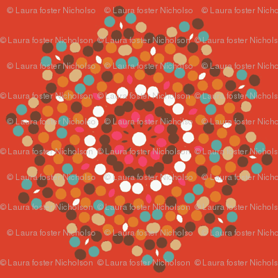 mosaics on tangerine