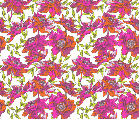 bohèmian fleurs fabric by holli_zollinger on Spoonflower - custom fabric