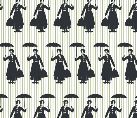 Mary Poppins, Spoonful of sugar not included. fabric by alysnpunderland on Spoonflower - custom fabric