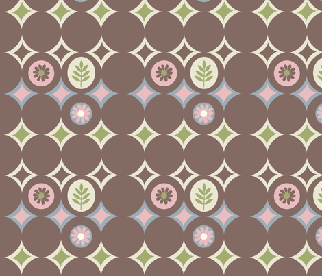 circle brown  fabric by amy_frances_designs on Spoonflower - custom fabric