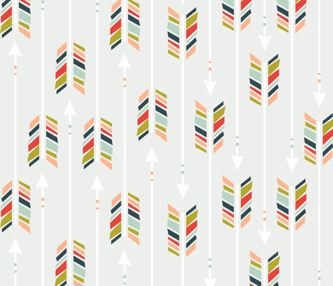 Large Arrows: Preppy fabric by nadiahassan on Spoonflower - custom fabric